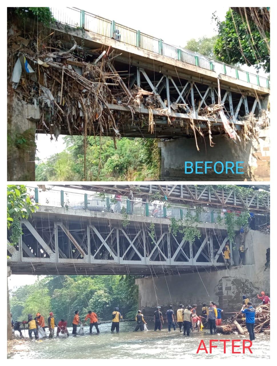 Kegiatan bersih-bersih Sungai Ciliwung
